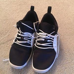 Jordan black and white sneakers